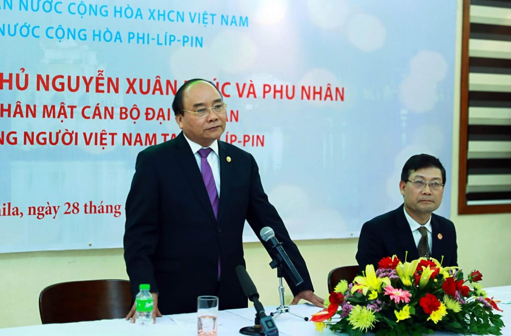 Pm Nguyen Xuan Phuc in Philippines