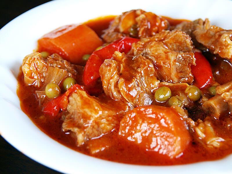 Món Bicol Express – thịt hầm Philippines