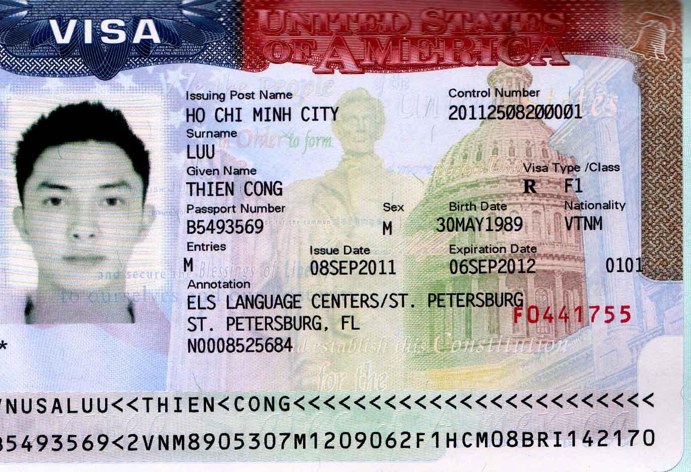 xin visa du lịch Mỹ 2020